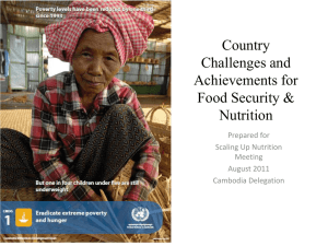 2011 Scaling Up Nutrition Cambodia ppt