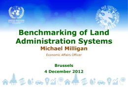 Benchmarketing of Land Administration Systems by Mr. Milligan