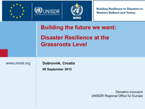 Disaster resilience at the grassroots level