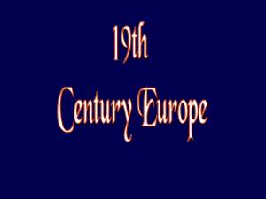 19th Century Europe PowerPoint