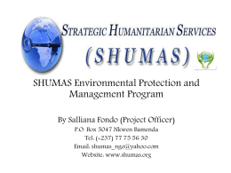 SHUMAS & Environmental Protection