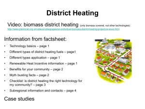 District heating – Case studies
