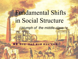 Fundamental Shifts in Social Structure