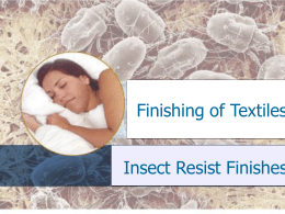 2 Chemistry of Insect Resist Finishes