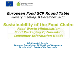 Eric Poudelet`s presentation - European Food SCP Roundtable