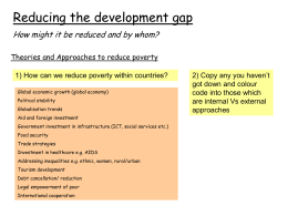 Lesson 6.Reducing development gap