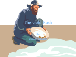 The Gold Rush songs titles - Etiwanda E