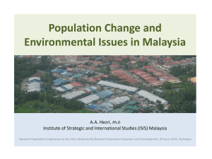 Population Change and Environmental Issues in Malaysia