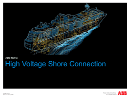 HVSC Shore Connections for ships