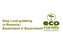 Landgrabbing in Romania