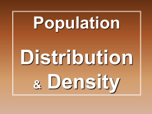 population distrib and density