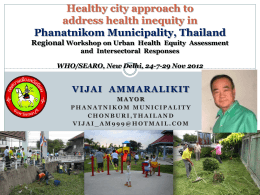 Implementation of HEALTHY CITY