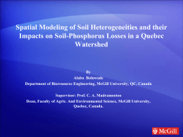 Spatial Modeling of Soil Heterogeneities and their Impacts on Soil