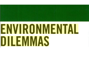 Environmental Dilemmas - Oatley Flora and Fauna Conservation