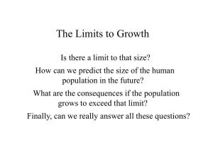 limits to growth lecture