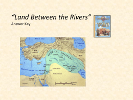 """Land Between the Rivers"" Answer Key"