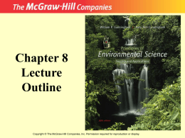 chapter 8 Environemntal Health and Toxicology