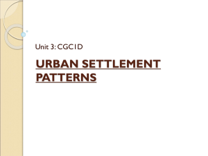 URBAN SETTLEMENT PATTERNS