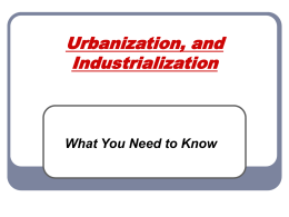 Urbanization, and Industrialization