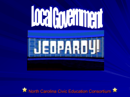 Local Government Jeopardy