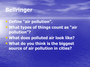#15 - What Causes Air Pollution? Section 12.1