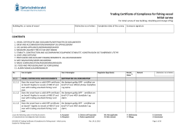 Trading Certificate of Compliance for fishing vessel Initial survey
