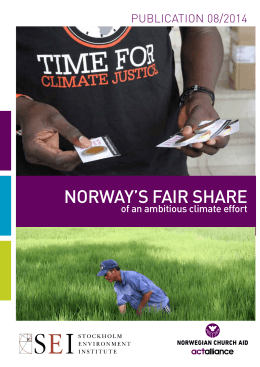 Norway`s fair share - Stockholm Environment Institute
