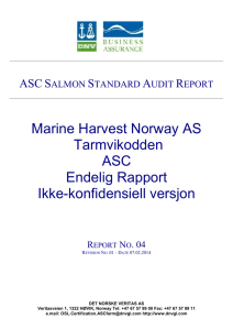 Marine Harvest Norway AS Tarmvikodden ASC Endelig Rapport