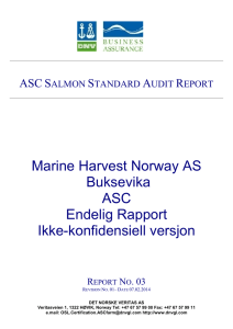 asc salmon standard report - Aquaculture Stewardship Council
