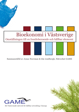 Bioekonomi i Västsverige - Göteborg Action for Management of the
