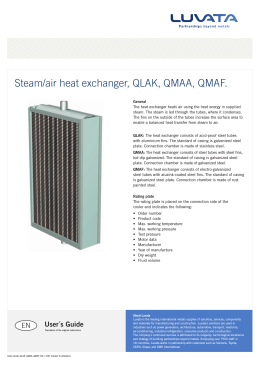 Steam/air heat exchanger, QLAK, QMAA, QMAF.