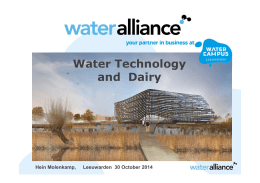 Water Alliance WaterCampus 30 okt 2014