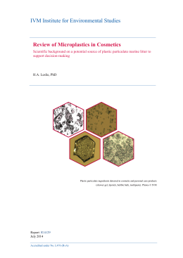 Review of Microplastics in Cosmetics