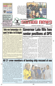 Governor Lolo fills two senior positions at DPS
