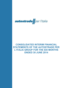 Consolidated interim report for the six months ended 30