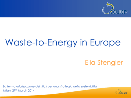 Waste-to-Energy in Europe