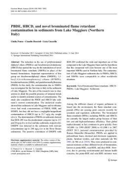 PBDE, HBCD, and novel brominated flame retardant - IRSA