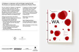 A dialogue on Japanese craft and design inspired by Wa: The