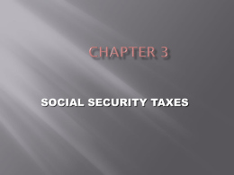 Chapter 3 - Social Security Taxes