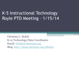 ROYLE PTO Presentation DPS K-5 Instructional Tech Jan 2014