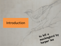 To Kill a Mockingbird Intro with characters