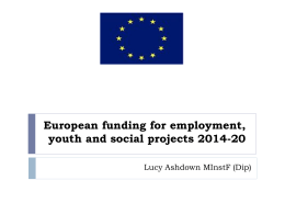 An introduction to EU funding for youth, social and employment