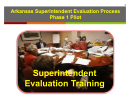 Superintendent Evaluation Phase 1 Pilot Training Presentation