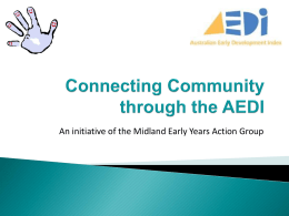 Connecting Community through the AEDI