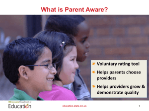 Parent Aware Application Guidance