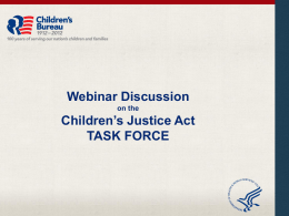 Overview of the CJA Task Force - National Resource Center for