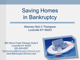 How to stop Foreclosure in Bankruptcy