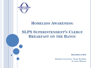 What is homelessness? - St. Louis Public Schools