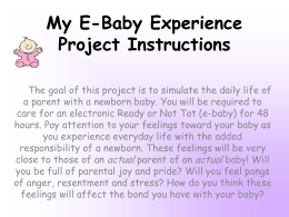 My E-Baby Experience Project Instructions