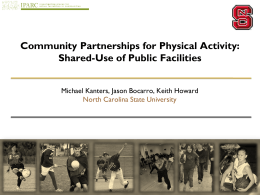 Shared-Use of Public Facilities